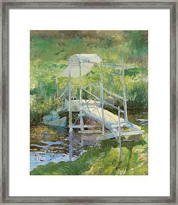 The White Bridge Framed Print