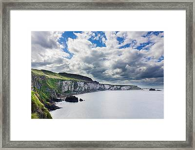 The White Cliffs Of Carrick A Rede Framed Print by Semmick Photo