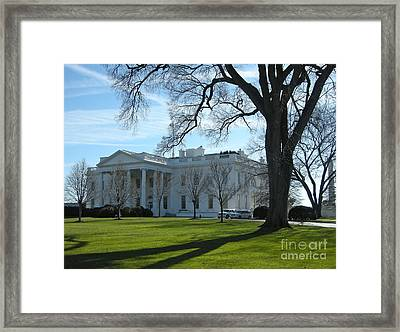 Framed Print featuring the photograph The White House by Victoria Lakes