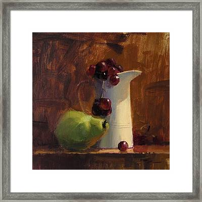 The White Jug Framed Print by Richard Robinson