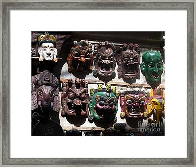 The White Mask Framed Print by Louise Peardon