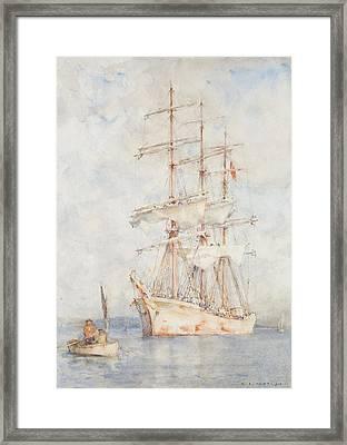The White Ship Framed Print by Henry Scott Tuke