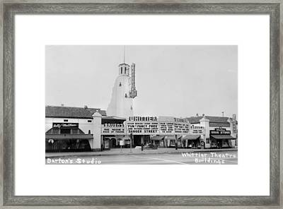 The Whittier Theatre Complex, Bruens Framed Print by Everett