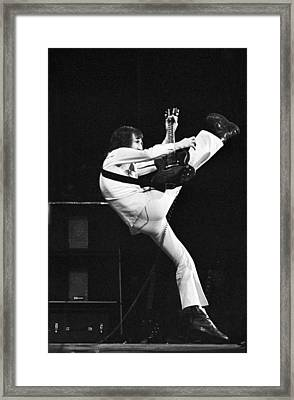 The Who's Pete Townshend 1972 Framed Print