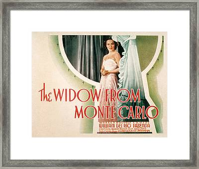 The Widow From Monte Carlo, Dolores Del Framed Print