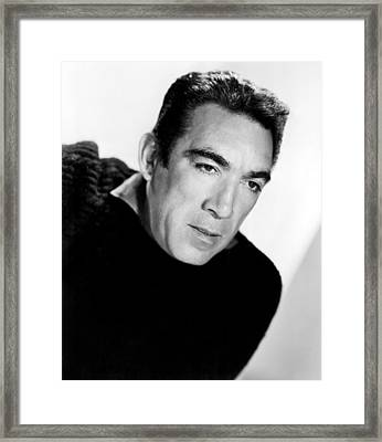 The Wild Party, Anthony Quinn, 1956 Framed Print