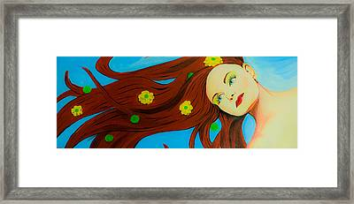 The Wind Blows A Kiss Framed Print by Chris  Leon