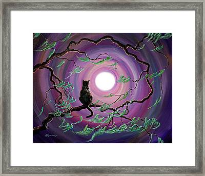 The Wind In My Fur Framed Print by Laura Iverson