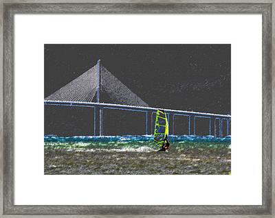 The Wind Surfer Framed Print by David Lee Thompson