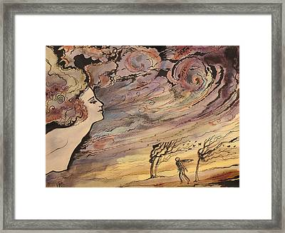 Framed Print featuring the painting The Wind by Valentina Plishchina