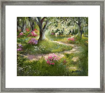 The Winding Path In Spring Framed Print