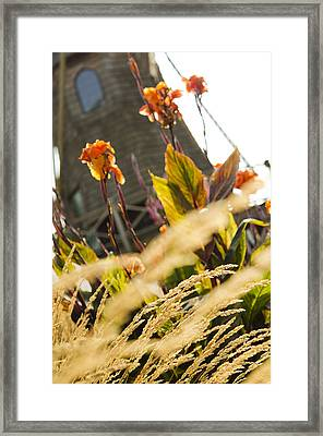 The Windmill Framed Print by MaryJane Armstrong