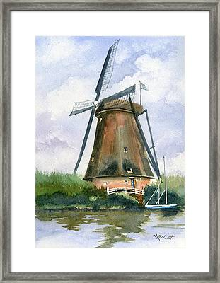 The Windmills Of Your Mind Framed Print by Marsha Elliott