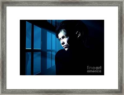 The Window To The World Framed Print by Gabor Gabriel Magyar - Forgottenangel