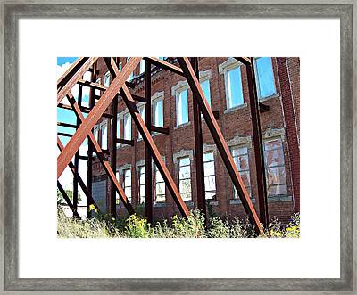 Framed Print featuring the photograph The Window Wall by MJ Olsen