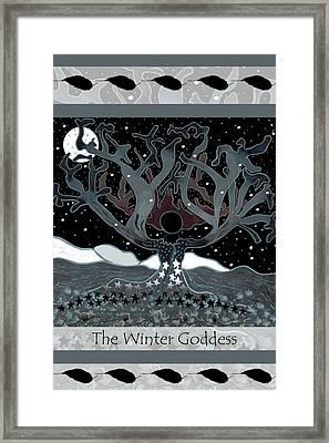 The Winter Goddess Framed Print by Lori Kirstein