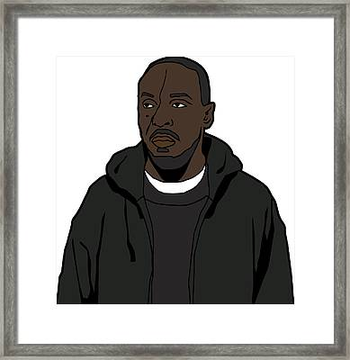 The Wire's Omar Little Framed Print by Tomas Raul Calvo Sanchez
