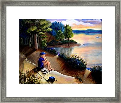 The Wish To Fish Framed Print