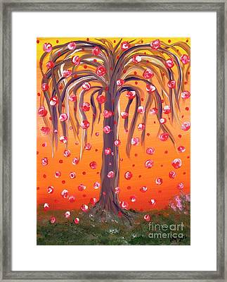 The Wishing Willow Framed Print by Alys Caviness-Gober