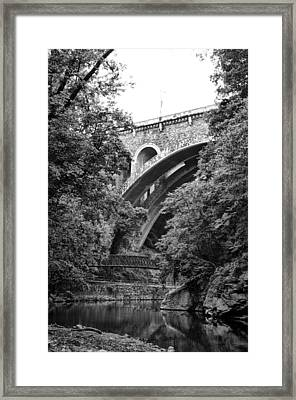The Wissahickon Creek And Henry Avenue Bridge Framed Print by Bill Cannon