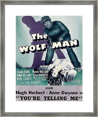 The Wolf Man, As The Wolf Man Lon Framed Print by Everett