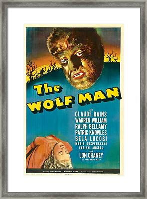 The Wolf Man, Evelyn Ankers, Lon Framed Print by Everett