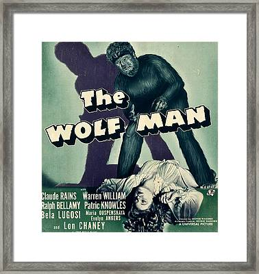 The Wolf Man, From Top Lon Chaney Jr Framed Print by Everett