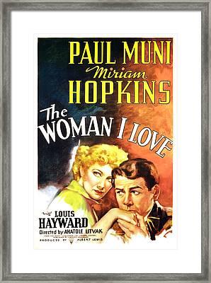 The Woman I Love, Miriam Hopkins, Paul Framed Print by Everett