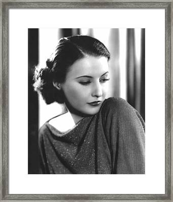 The Woman In Red, Barbara Stanwyck, 1935 Framed Print