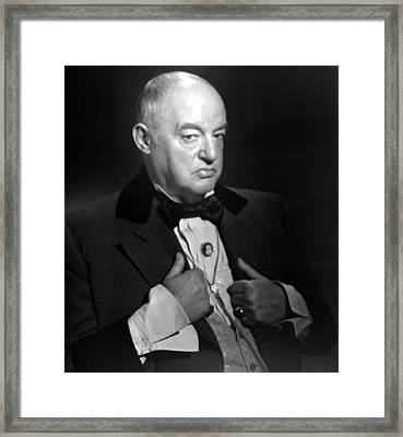 The Woman In White, Sydney Greenstreet Framed Print