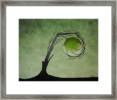 Framed Print featuring the painting The Wood Element by Edwin Alverio