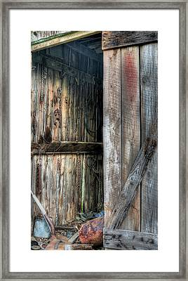 The Wood Shed Framed Print by JC Findley