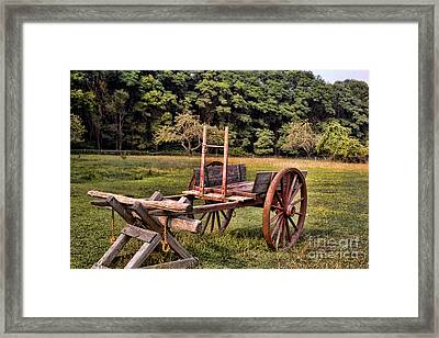 The Wooden Cart Framed Print by Paul Ward