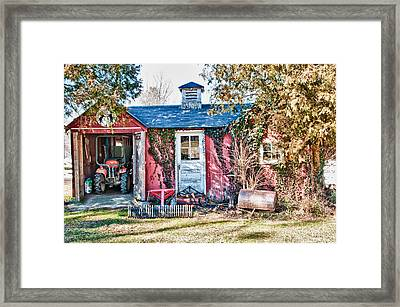 The Work Shed Framed Print by Linda Pulvermacher