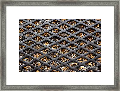 The World Becomes Your Ashtray Framed Print by Sonny Marcyan