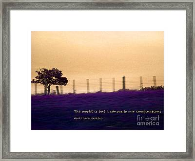 The World Is But A Canvas Framed Print