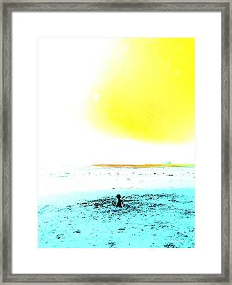 The World Is Your Sandbox Framed Print by Brian D Meredith