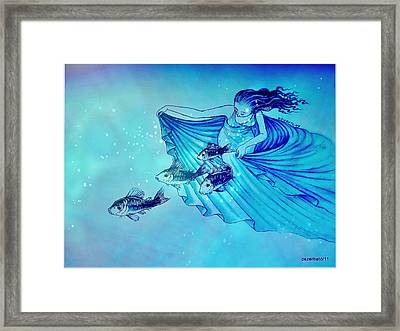 The World Of The Silent Framed Print by Paulo Zerbato