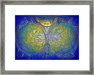 The World Framed Print by Randall Weidner