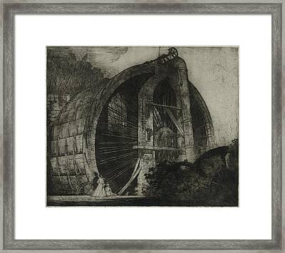The Worlds Largest Water Wheel Powered Framed Print by Everett