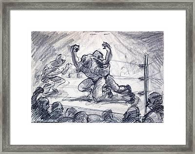The Wrestling Match Framed Print by Bill Joseph  Markowski