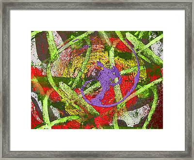The Writing On The Wall 4 Framed Print by Tim Allen