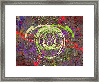 The Writing On The Wall 5 Framed Print by Tim Allen