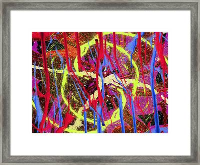 The Writing On The Wall 8 Framed Print by Tim Allen