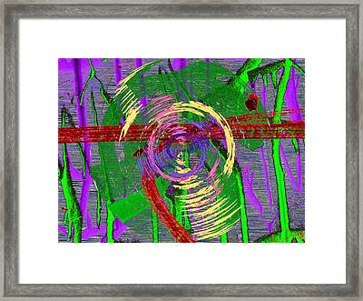 The Writing On The Wall 9 Framed Print by Tim Allen