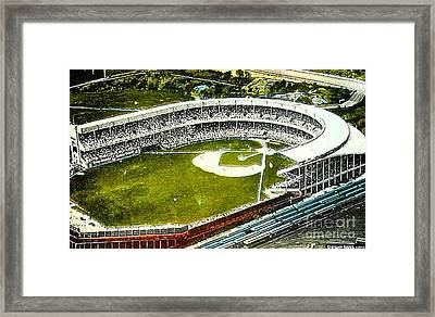 The Yankees' Polo Grounds In New York City In The 1920's Framed Print by Dwight Goss