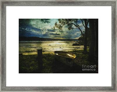 The Yellow Boat Framed Print by Avalon Fine Art Photography