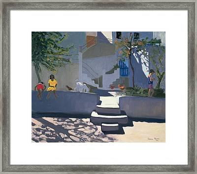 The Yellow Dress Framed Print by Andrew Macara