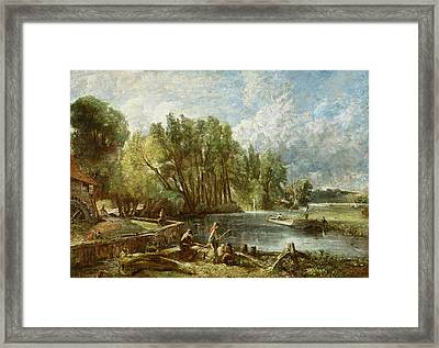 The Young Waltonians - Stratford Mill Framed Print by John Constable