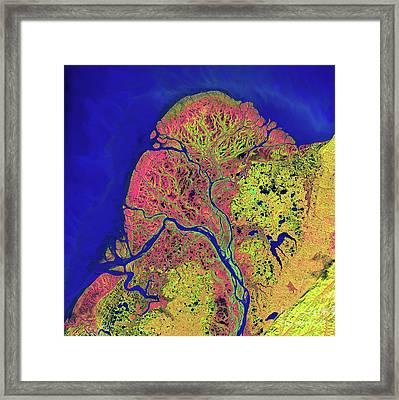 The Yukon Delta In Southwest Alaska Framed Print